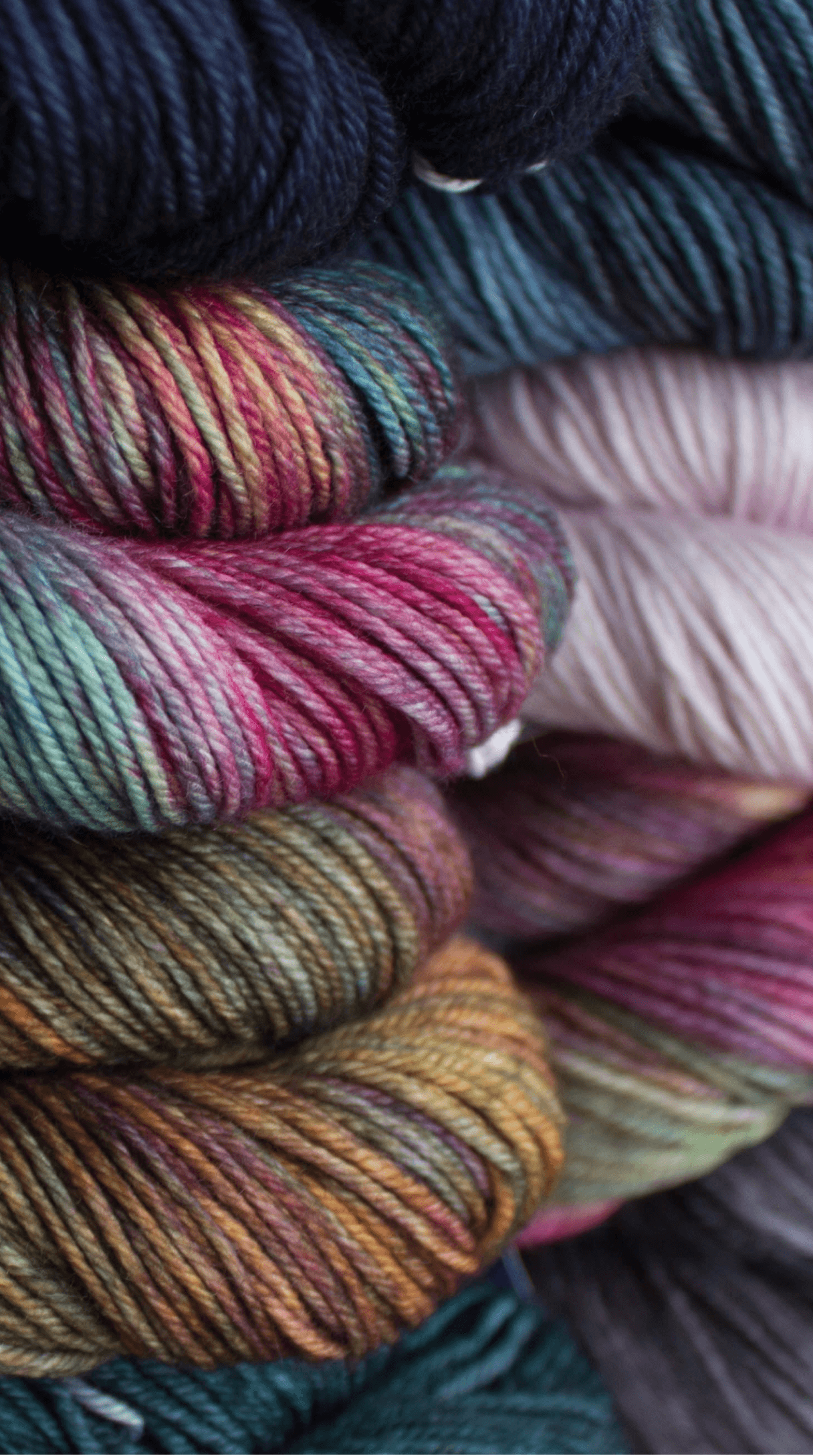 New caprino close up,           our lastest yarn, a blend of luxury fibers;           Cashmere and Superfine Merino